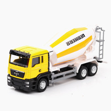 Mini Car Construction Truck Toy Alloy Vehicle Model Scrolling Mixer Garbage Open Door Truck Taxiing Inertia Car Toy for Children yellow architecture construction vehicle model alloy simulation cement mixer truck toys for children buildings