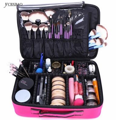 Makeup Bag Organizer Professional Artist Box Larger Bags Cute Korea Suitcase Brushes