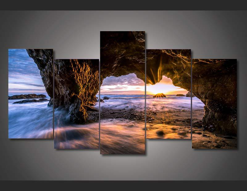 Framed Printed el matador state beach picture Painting wall art room decor print poster picture canvas Free shipping F/1259