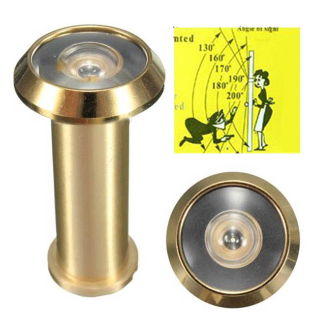 Adjustable Home Security 180 Degree Wide Angle Door Viewer Brass Sight  Peephole For Home Tools