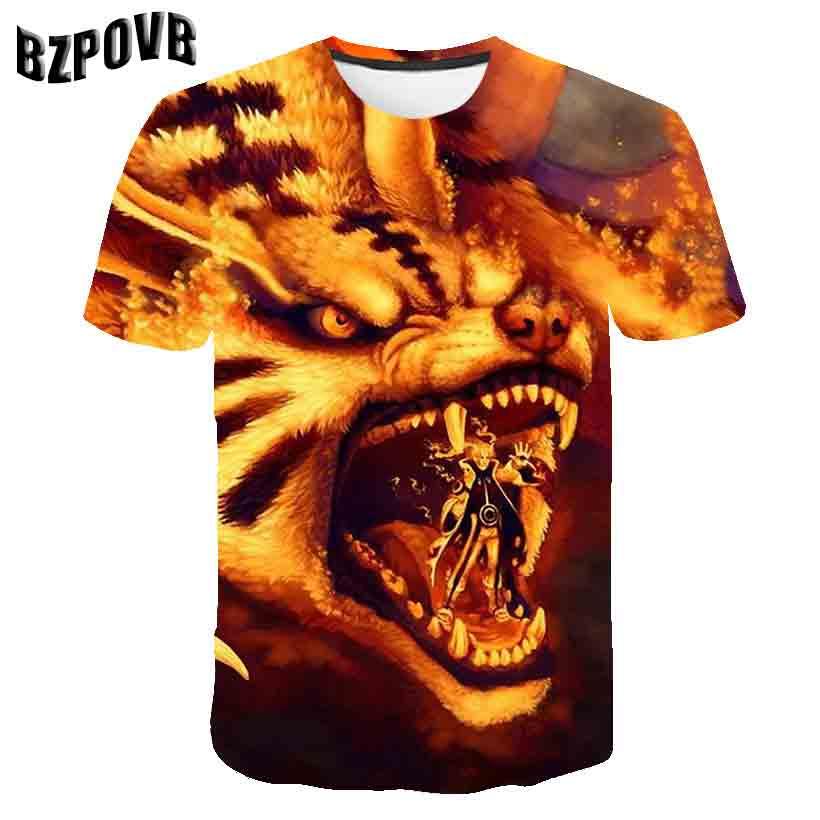 2019 New  Naruto  3D T-shirt Men Women Short Sleeve Print Naruto Costume Cosplay T Shirts Summer   Fashion Men Women Tops