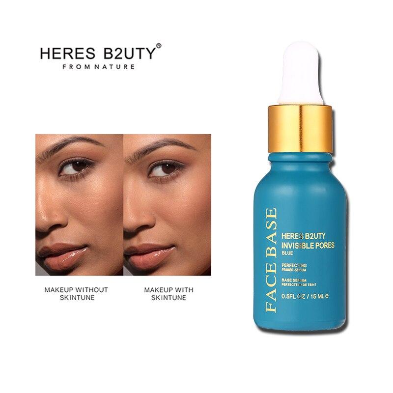 HERESB2UTY Invisible Pores  Face Base Primer Makeup Base 15ml Liquid Matte Make Up Fine Lines Oil-control Facial Cream Brighten