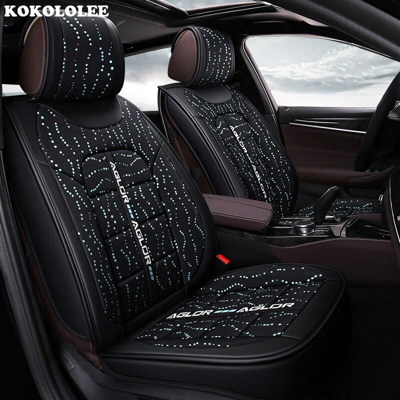 KOKOLOLEE housse de siège de voiture Pour kia ceed 2017 cerato k3 sportage 3 rio 4 âme sorento Automobiles housses de siège de voiture -style