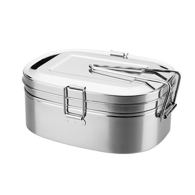 324a56999e Stainless Steel Bento Lunch Box Food Container Food Box Portable Lunchbox  kitchen rectangle Single / double Bowls-in Lunch Boxes from Home & Garden  on ...