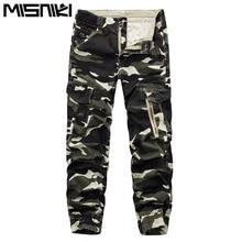 misniki 2017 Men's Cargo Pants Multi Pockets Military Overalls Long camouflage joggers harem pants XP30