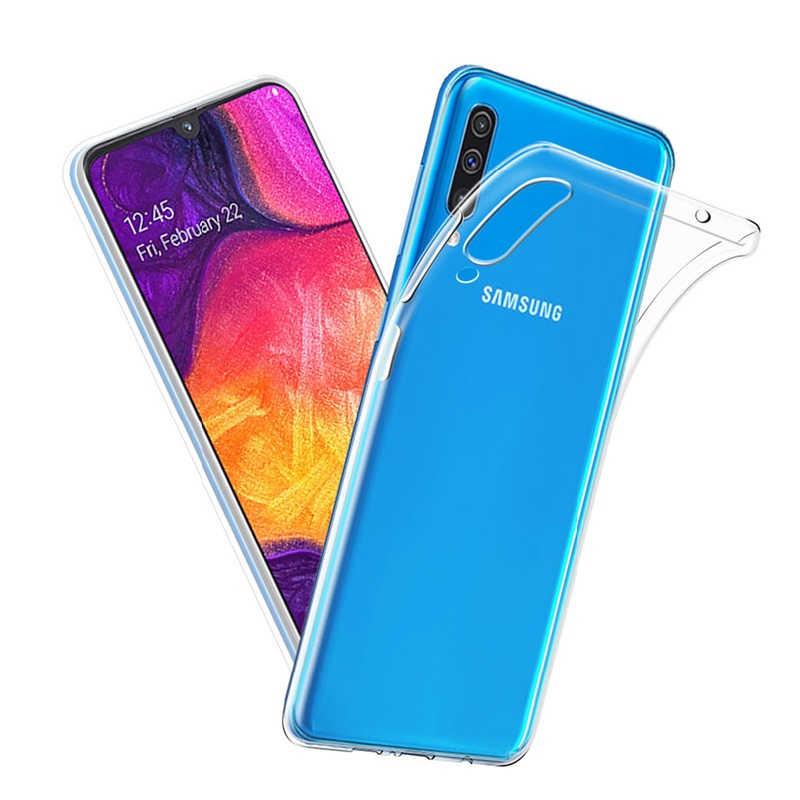 Funda transparente Coque para Samsung Galaxy A10 A20 A30 A40 A50 A70 A60 A80 S10 10Plus S10e S10 + cubierta suave TPU fina funda de silicona