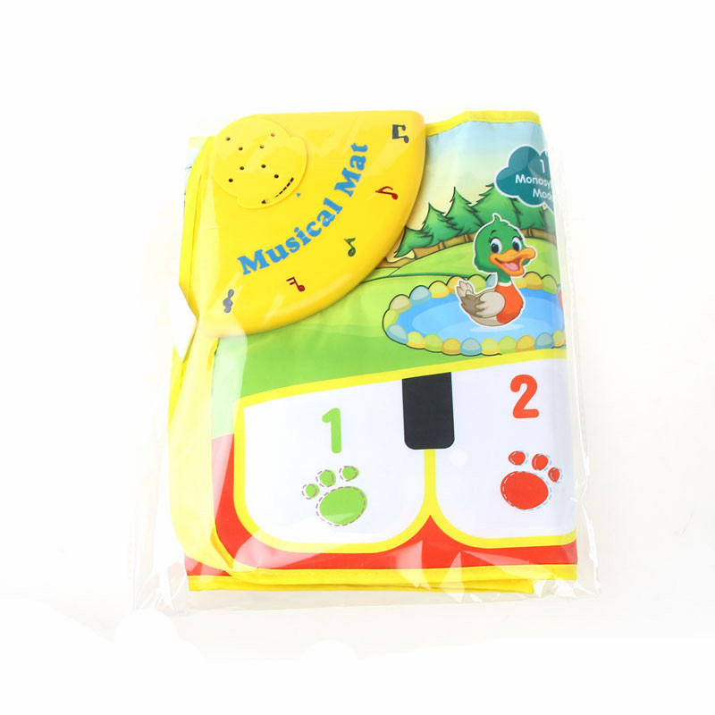 Children Crawling Floor Pad Blanket Activity Touchable Piano Carpet Game Rug Mat