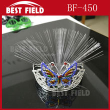 Free shipping 5pcs/lot led butterfly headband Novelty Decoration for Party Holiday,Hair Extension by optical fiber