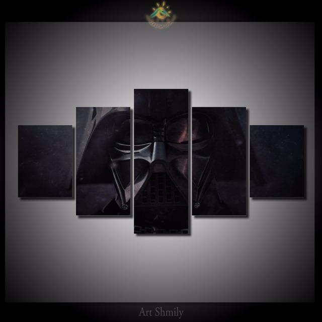 Darth Vader in the Dark Canvas