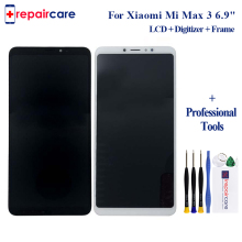 For Xiaomi Mi Max 3 LCD Display+Touch Screen New Digitizer Glass Panel Replacement Lcd For Xiaomi Mi Max 3 2160X1080 6.9 inch new and original mi lcd panel