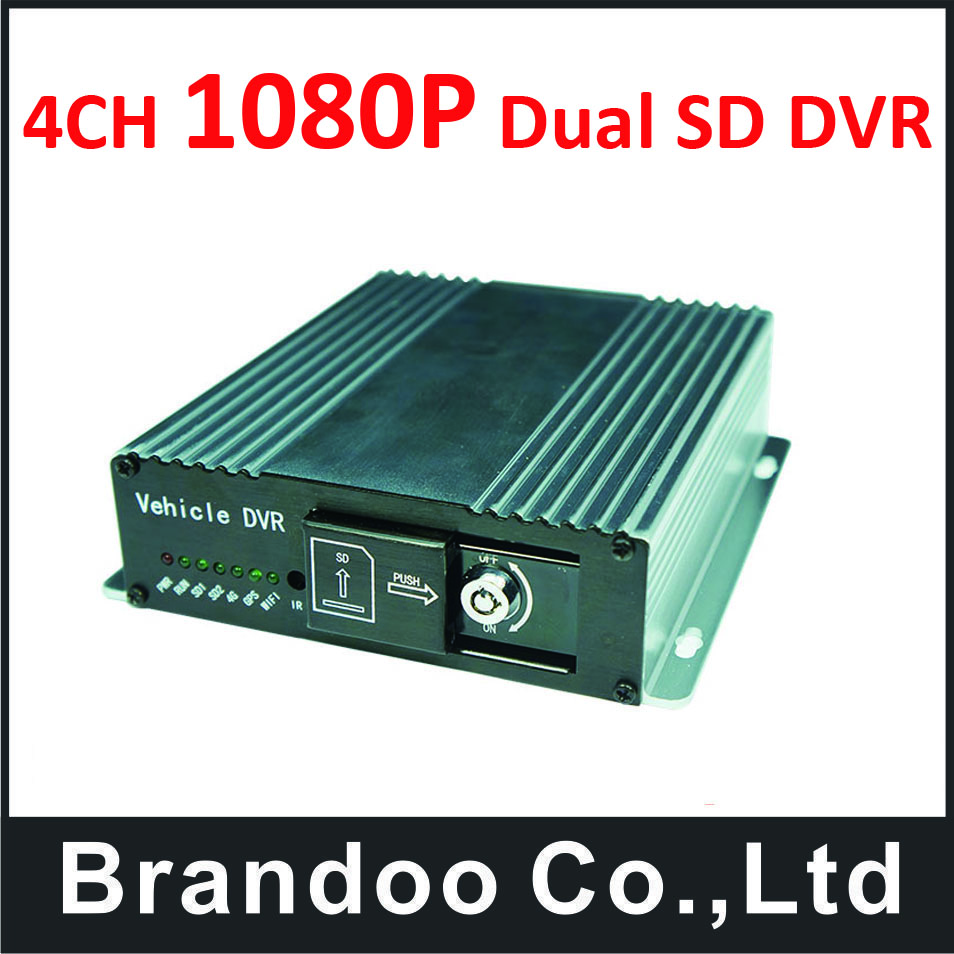 Free shipping 4 channel 1080P FULL HD Car DVR, for bus, taxi, school bus, trainning car used, BD-327HD, from Brandoo