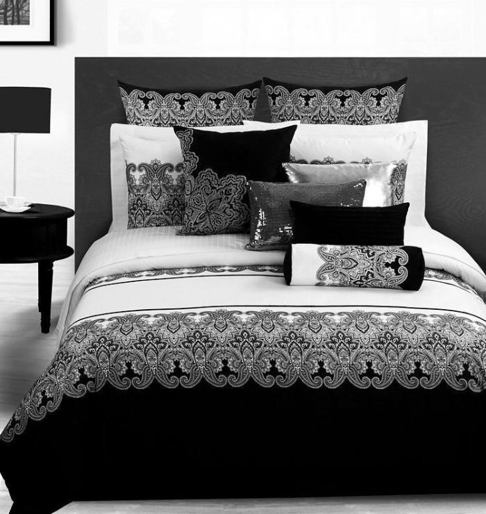 3D Vintage black and white paisley bedding set queen size