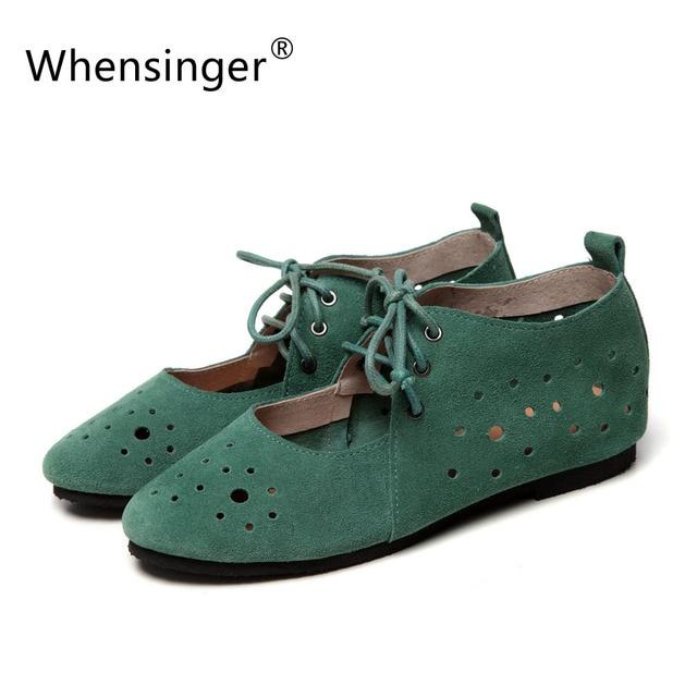 Whensinger - 2016 Summer Women Flats Fashion Ballet Shoes Polka Dot Cut-Outs Design 2 Colors 931