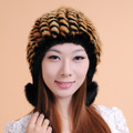Top quality imported genuine Mink hair knitted hat women's winter fur warm beanies cap female mink hat fashion cap mink hat