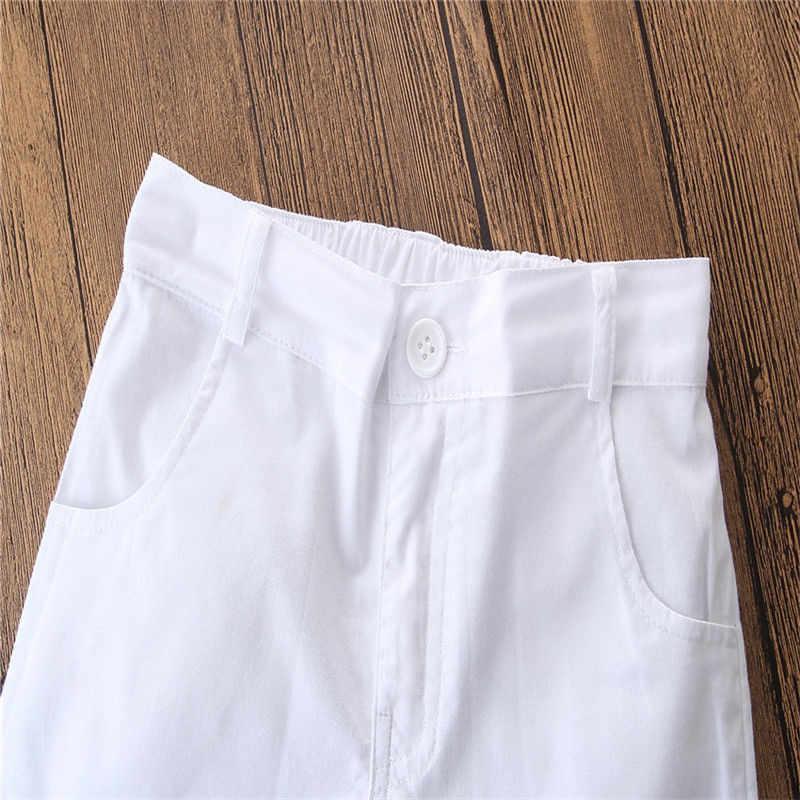0d1f33b43 ... 2PCS New Arrival Children Boy Clothes Sets Short Sleeve Denim Shirt +  Solid White Shorts New ...