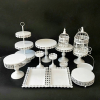 Elegant Plates Set White Dessert Fruit Cupcake Cake Stand Plate Fruits Tray Pallet Decoration Wedding Party Dishes & Plates 0102