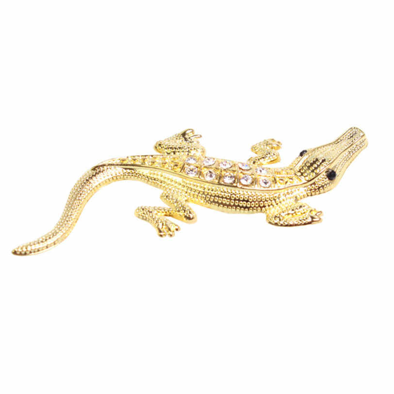 fashion stickers Crocodile Car Sticker 3D Emblem for Motorcycle Auto Bike Decal Silver and Gold car-styling car accessories **