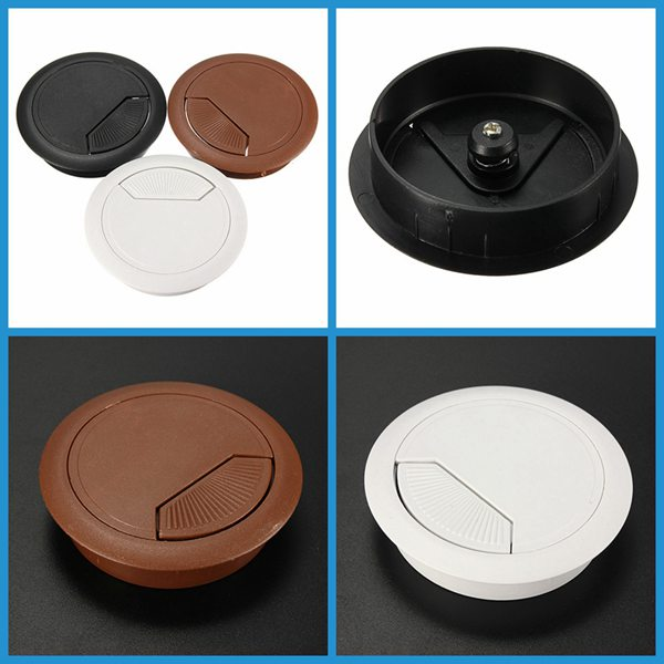 Best Promotion 60mm Computer Desk Grommet Table Cable Tidy Outlet Port Surface Wire Hole Cover Durable
