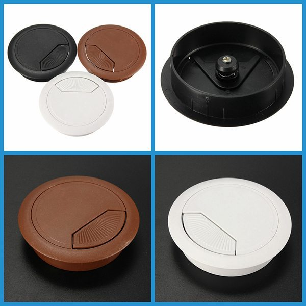 Charming Furniture Hole Cover #20 - Best Promotion 60mm Computer Desk Grommet Table Cable Tidy Outlet Port  Surface Wire Hole Cover Durable-in Furniture Accessories From Furniture On  ...