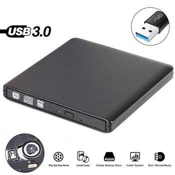 USB 3,0 внешний CD/DVD ROM проигрыватель оптический привод DVD RW горелки ридер писатель рекордер для ноутбуков ПК Windows 7/8/10 Mac OS