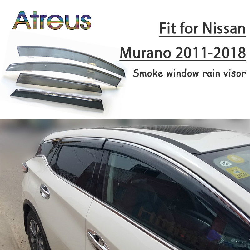 SAINA Deflector Aire Coche para V olkswagen TIGUAN 2010-2016 Ventana Transl/úcido Lateral Deflectores de Viento 4 Piezas