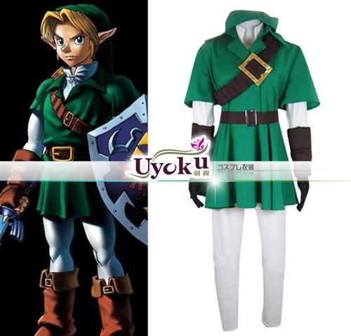 Hot The Legend of Zelda Link Cosplay Costume Full Set Comic Link Cosplay green Outfits Full set