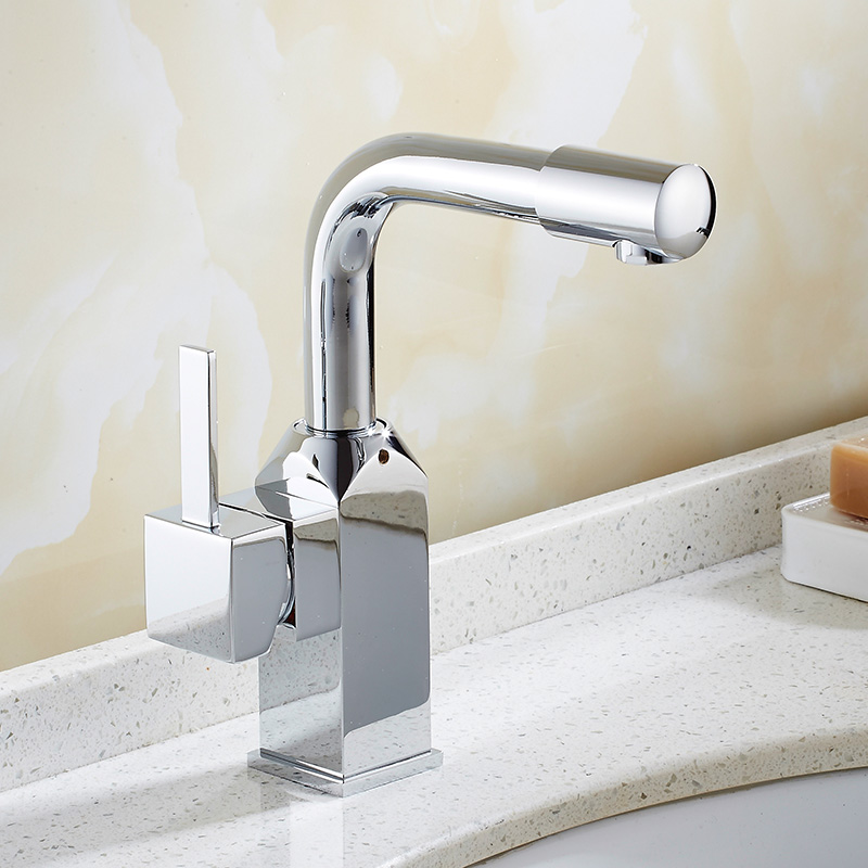 Free Shipping New Fashion Solid Brass Bathroom Faucet Single ...