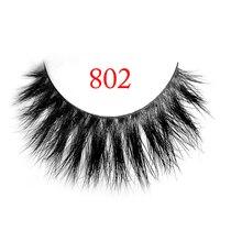 Free Shipping 1 Pair 802 100 real siberian 3d fur strip false eyelash long individual eyelashes