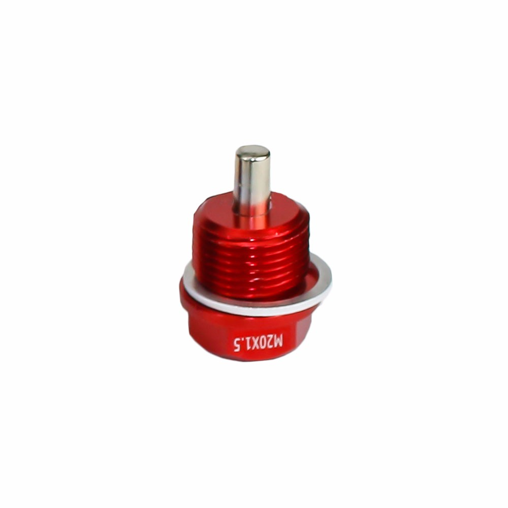 Magnetic Oil Drain Plug Magnetic Sump Drain Nut Oil Drain Bolt 20x1.5, Red