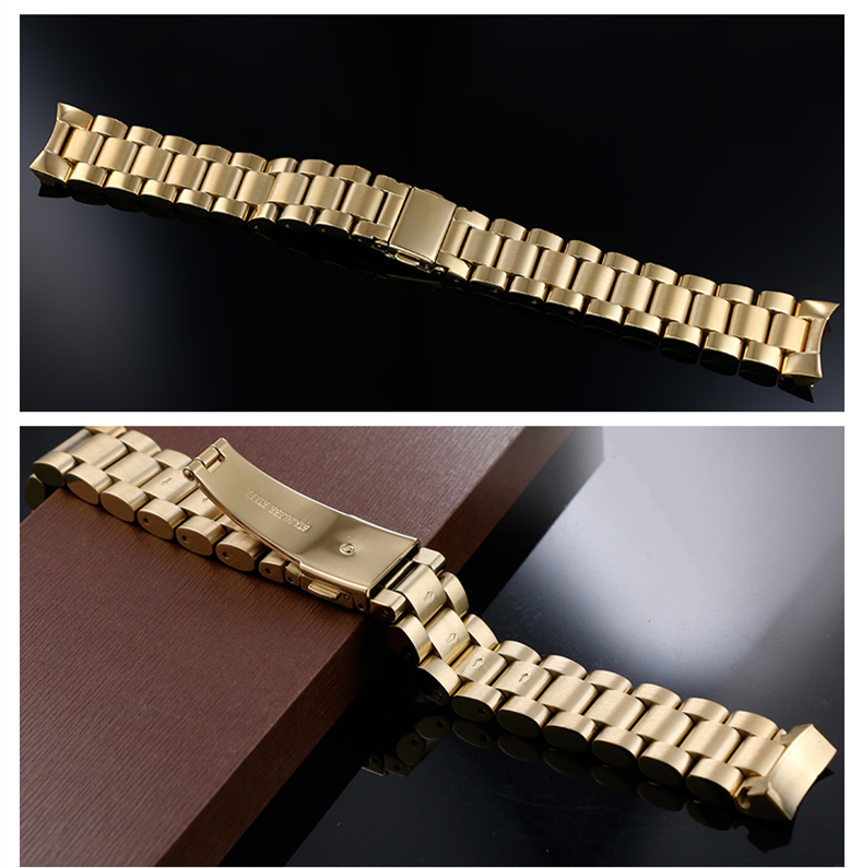 Fit mk Watch Band Gold Stainless Steel Bracelet Buckle