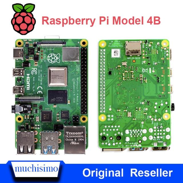 Raspberry pi 4 modelo b 4b oficial, com 1 / 2 / 4 gb de ram, 1.5ghz 2.4/5.0 ghz wifi bluetooth 5.0 caso cooling dissipador de calor fonte de alimentação