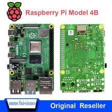 Resmi ahududu Pi 4 Model B 4B 1/2/4 GB RAM 1.5GHz 2.4/5.0 GHz WIFI Bluetooth5.0 kasa soğutma soğutucu güç kaynağı