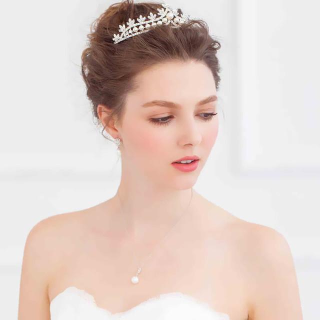 Cristais de prata 2016 acessórios de noiva vestidos de noiva chapéus moda acessórios de noiva Crown em estoque