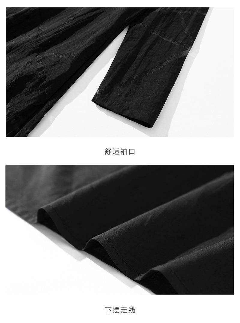 Lente en Herfst 2019 nieuwe slanke Jurk temperament mode Zomer vrouwen Grote Omvang losse Jurk zwart X495 - 6