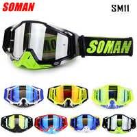 Gafas de Motocross SOMAN, Gafas de descenso MX Gafas de Cross Country, Gafas de moto, Gafas de moto de Cross Bike SM11