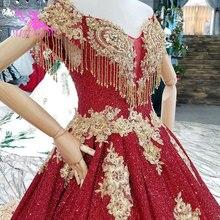 Vestido de novia AIJINGYU Vietnam, vestido de novia de lujo, con volantes de satén, vestidos de novia con mangas, vestidos de boda en línea