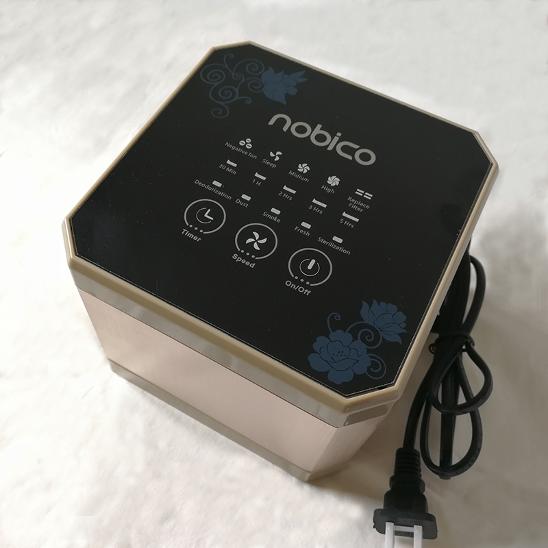 Nobico Home and Office Air Purifier Negative Ion Air Ionizer Touch Air Cleaner Reduce Allergens Pollen