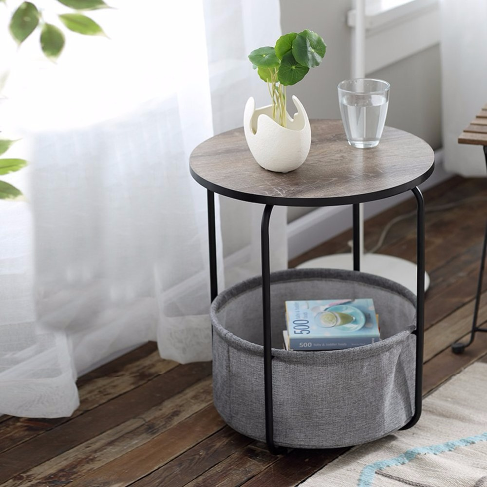 Cyanbamboo Metal Coffee Table Living Room Side Be Corner Tea Two Tier Round High Quality Bedroom Bedside Tables In From