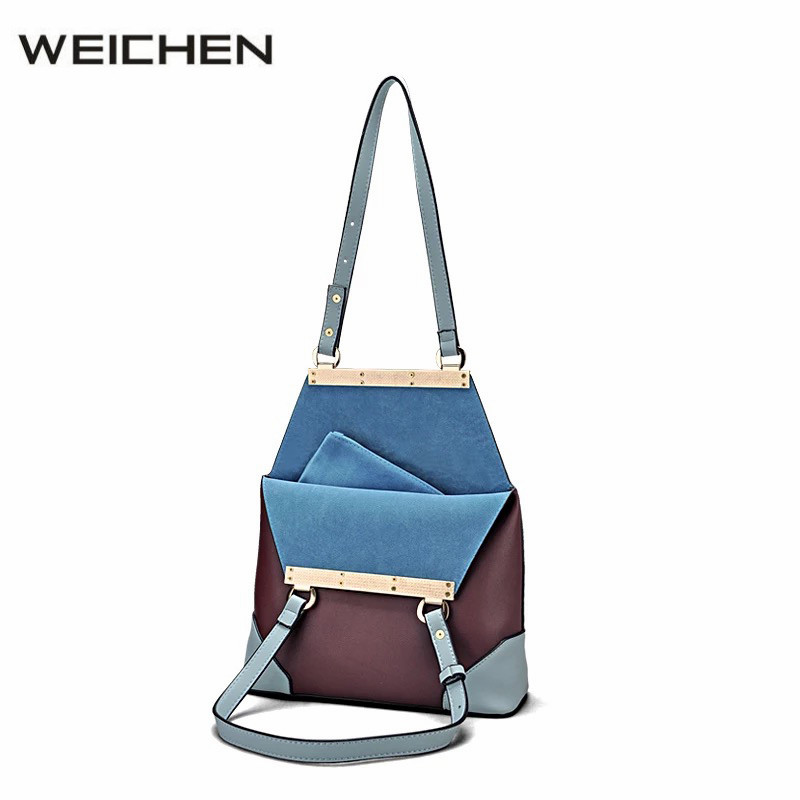 Autumn Women Handbags 2017 Luxury Designer Patchwork PU Leather Fashion Ladies Composite Bag Women Tote Bags Bolsas Femininas stylish diamond lattice brand new women tote bags fashion ladies evening party bags designer handbags bolsas femininas