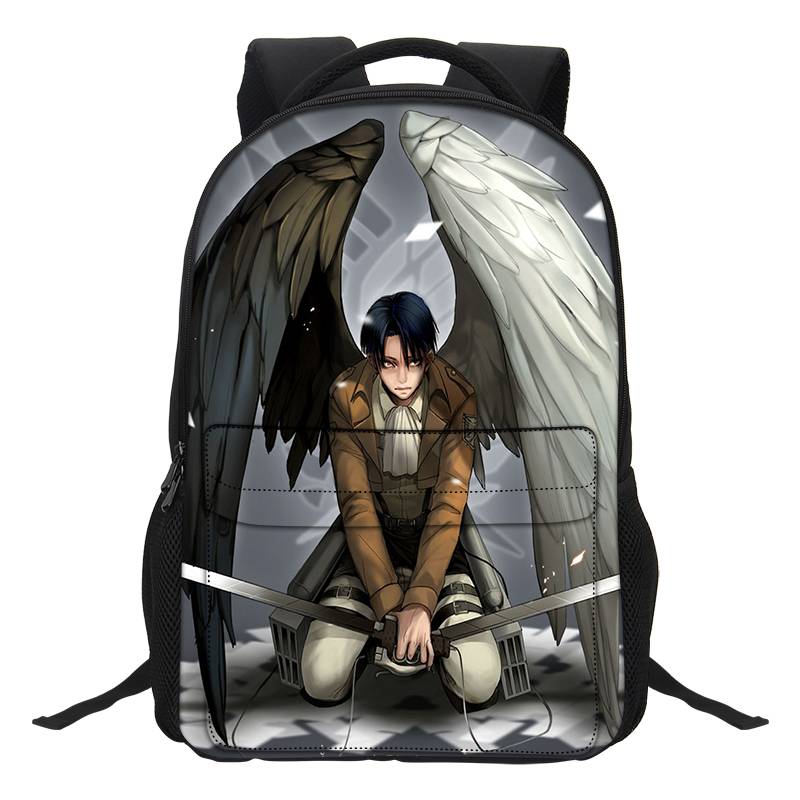 Veevanv Anime Girls School Backpacks Teenagers Mochila Fashion Women Laptop Shoulder Bags Attack On Titan Pattern Boys Bookbags