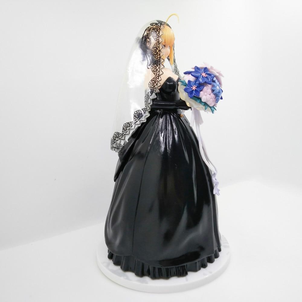 1 pièces 25 CM pvc japonais sexy anime figure destin/séjour nuit sabre noir mariage ver 10th anniversaire figurine d'action - 2
