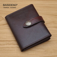 Retro Cover On The Passport Women S Male Ladies Luxury Genuine Leather Large Capacity Snap Card