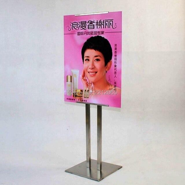 Single Side Display Adjustable Pedestal Floor Ads Poster Display Stands for Retailshop,Hotel,Restuarant