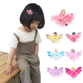 $1.99 - 1Pcs Disney Princess Theme gift Children Headwear Hair Clips