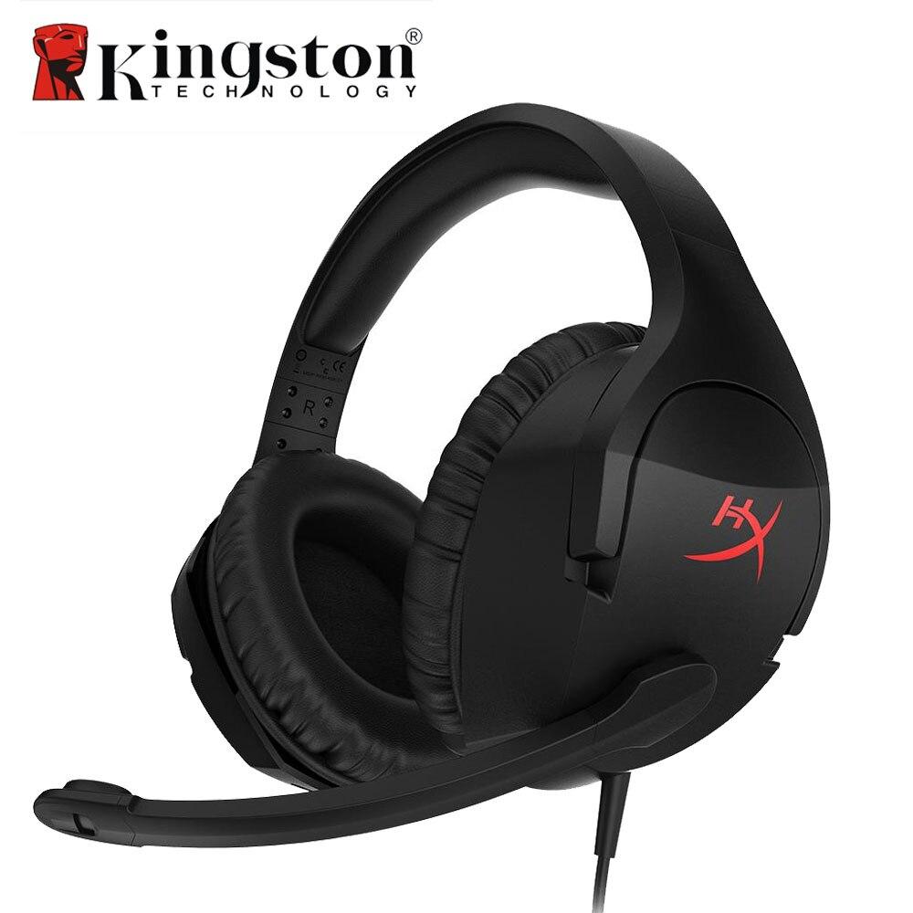 Kingston HyperX Cloud Stinger Gaming Headset Stereo Headphone Earphone Over Ear for PC/Xbox One/PS4/Wii U HX-HSCS-BK/AS kingston hyperx cloud ii red khx hscp rd