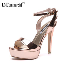 цена на night high heels thin with waterproof sexy open toe sandals high heels shoes women slippers  woman sandals 2018 summer