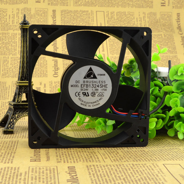 New original EFB1324SHE 24V 1.38A 127 * 127 * 38MM high wind axial flow inverter fan