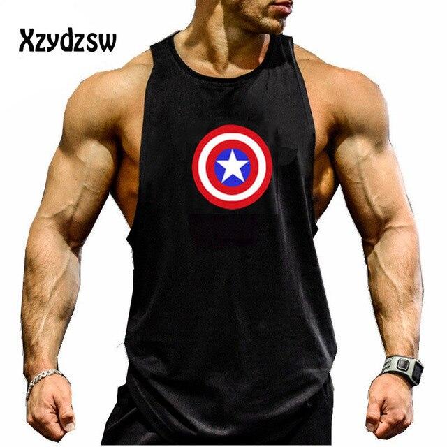 Shark 2016 Captain Uomo New America Canotte Bodybuilding 7Y6yfbg