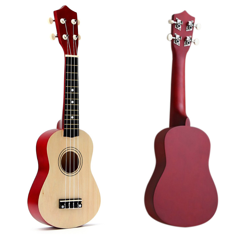 SEWS-21 Inch Soprano Ukulele 4 Strings Hawaiian Guitar Uke + String + Pick For Beginners Kid Gift