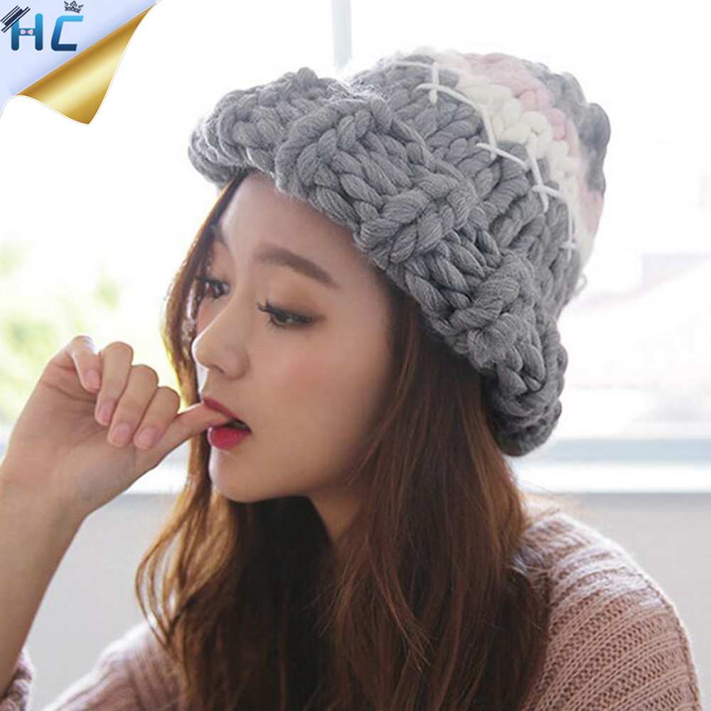 Women's Winter Hat For Girls Casual Beanies Skullies 5 Colors Warm Knitted Cap Gorros Bonnet Femme Autumn Hats Caps For Women femme skullies autumn beanies winter warm chapeau women hat female knitted cap ladies bonnet